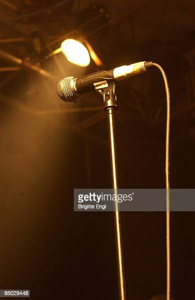KINGDOM circa 1970 Photo of MICROPHONE taken on stage with spotlight in background