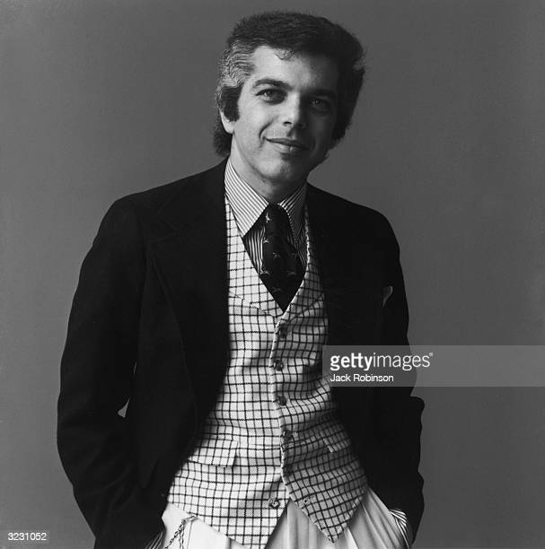 Studio portrait of American fashion designer Ralph Lauren.