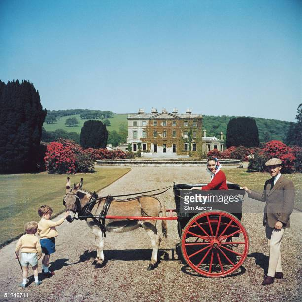 Circa 1970 The Marquess and Marchioness of Waterford and their elder son the Earl of Tyrone in the grounds of their home Curraghmore County Waterford...