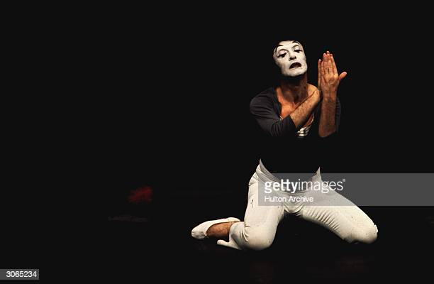 World famous mime artist Marcel Marceau performs his one-man show.