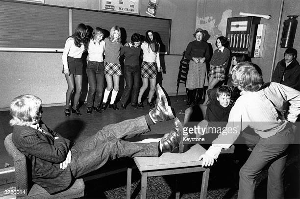 Youths disco dance in Wolverhampton