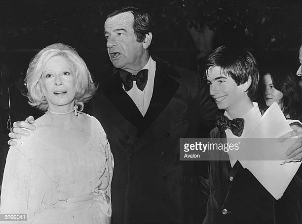 Actor Walter Matthau with his wife Carol and son Charlie