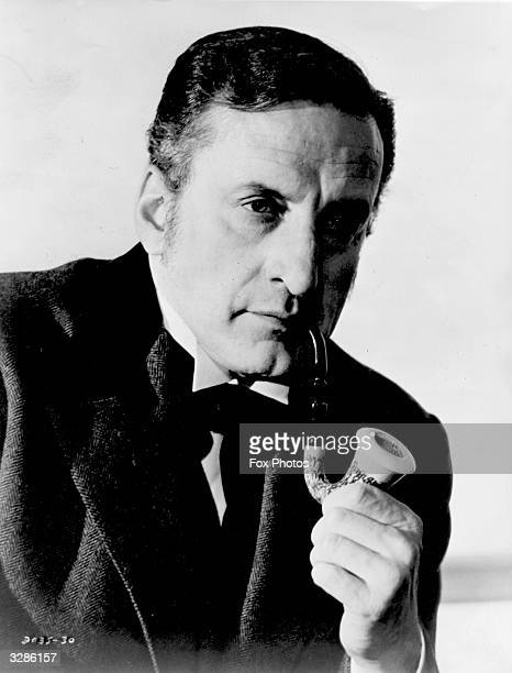 American actor George C Scott as Sherlock Holmes in a publicity still for the film 'They Might Be Giants'.