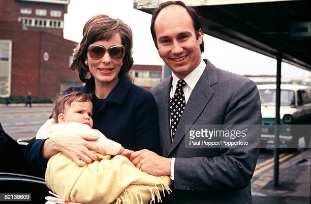 Circa 1971 The Aga Khan is pictured with his wife Princess Salina and baby daughter Zarah