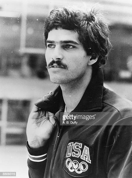 American swimmer Mark Spitz training for the 1972 Olympic Games in Munich where he won a record seven gold medals all in world record times