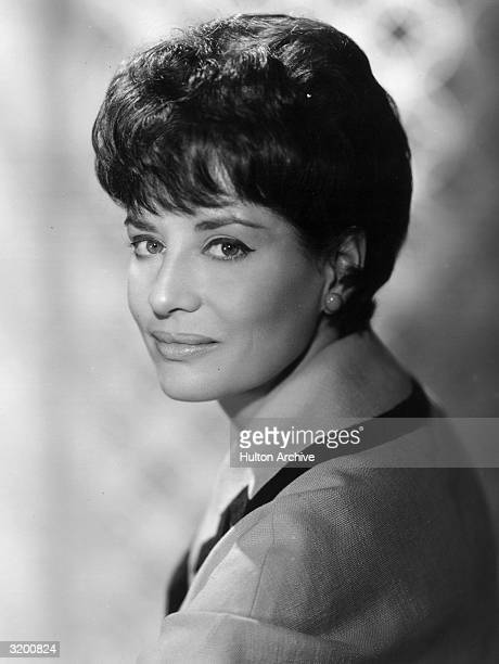 Headshot of television journalist Barbara Walters with dark hair during her tenure as a Today Show anchor.