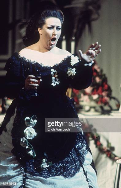 Spanish soprano Montserrat Caballe in Verdi's opera 'La Traviata' at the Royal Opera House, Covent Garden, London.