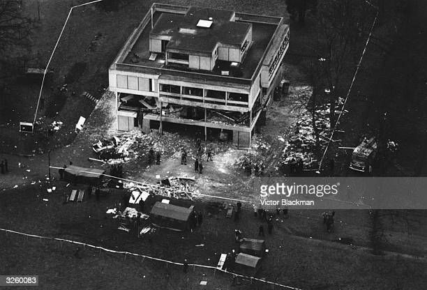 The Aldershot Army Officers Mess after an IRA bombing which killed seven