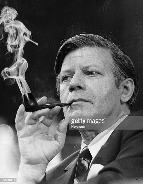 Chancellor of the Federal Republic of Germany Helmut Schmidt.