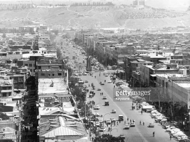 High angle view of the Afghan Capital, Kabul.