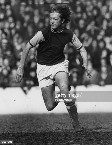 Alan Curbishley in action for West Ham United FC Curbishly late went on to manage Charlton Athletic FC winning promotion to the Premier League