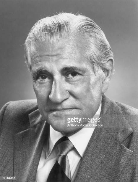 Headshot portrait of American broadcast journalist Eric Sevareid . Sevareid joined the original CBS network news team in 1939 and remained affiliated...