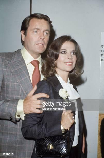 Married American actors Robert Wagner and Natalie Wood