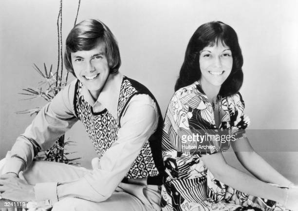 Promotional portrait of the brother and sister American pop duo The Carpenters Richard and Karen Carpenter