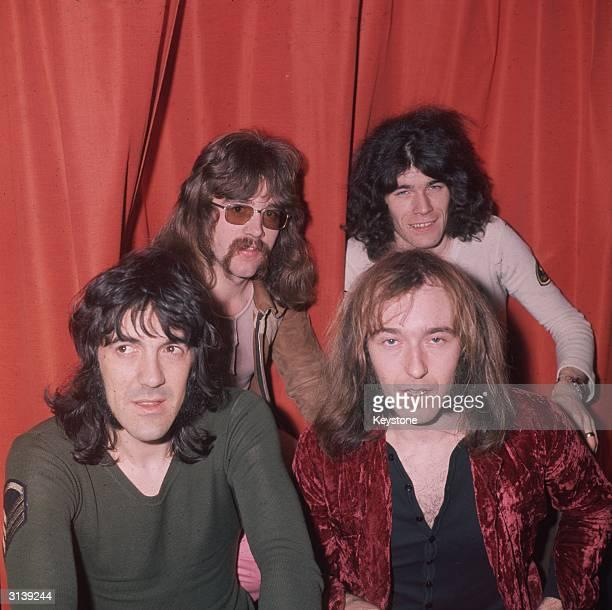 Scottish hard rock quartet Nazareth comprising vocalist Dan McCafferty guitarist Manny Charlton bassist Pete Agnew and drummer Darrell Sweet