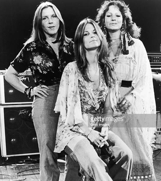 Circa 1975 Singers Cassie Gaines Leslie Hawkins and Jo Jo Billingsley of the American rock group Lynyrd Skynyrd 1970s