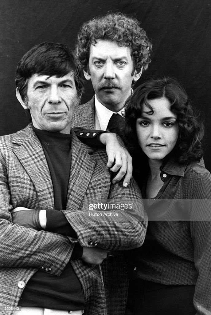 US actress Brooke Adams, US actor Leonard Nimoy (left) and Canadian actor Donald Sutherland, stars of the 1970's remake of the 1950's film 'Invasion of the Body Snatchers'.