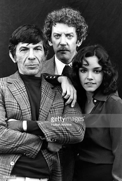 US actress Brooke Adams US actor Leonard Nimoy and Canadian actor Donald Sutherland stars of the 1970's remake of the 1950's film 'Invasion of the...
