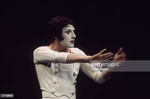 World famous French mime artist Marcel Marceau performs his one-man show.