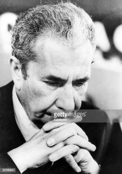 Italian statesman and prime minister Aldo Moro