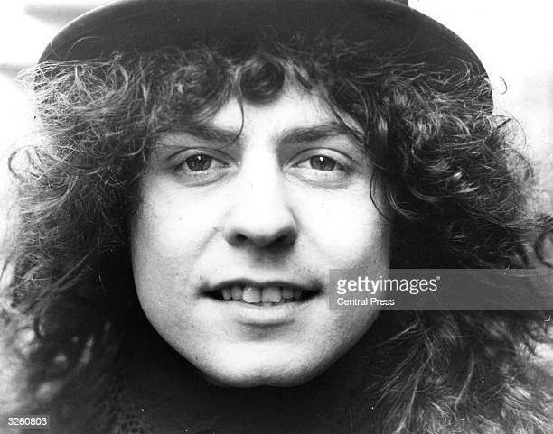 Pop star Marc Bolan , singer, songwriter and guitarist of the group T Rex.