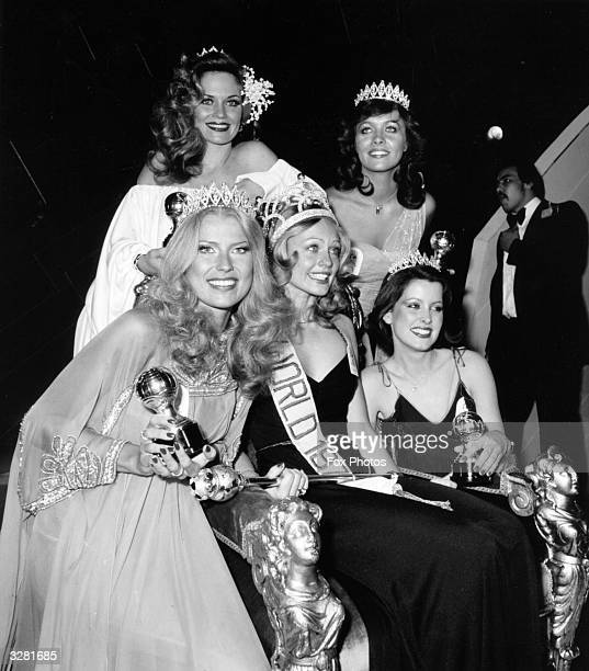 Contestants in the 1977 Miss World Competition which was won by Miss Sweden Mary Stavins