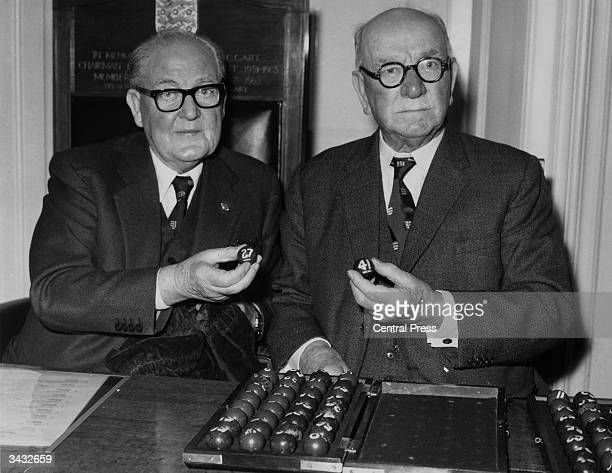 Howard Thompson the chairman of the Football Association during a draw for the FA Cup