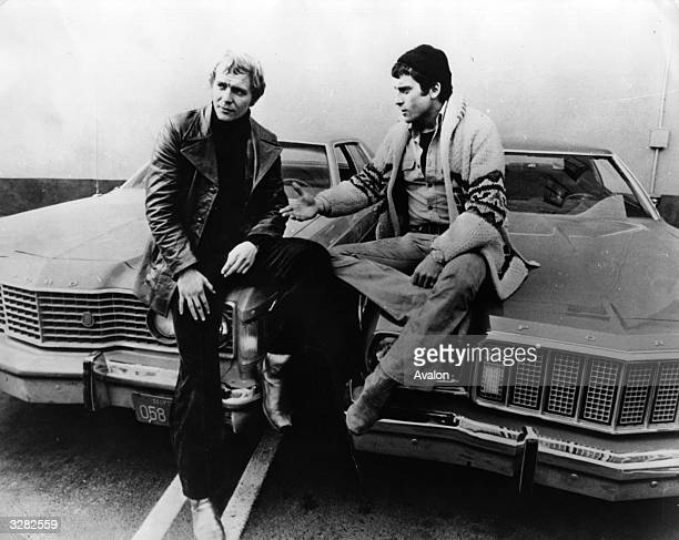The actors David Soul and Paul Michael Glaser stars of the television series 'Starsky And Hutch'