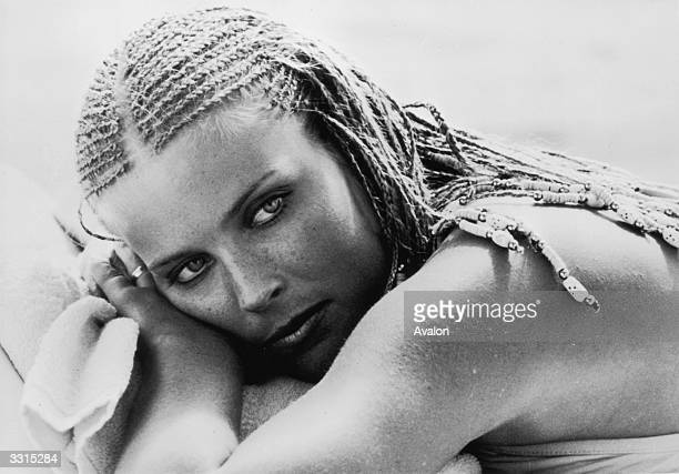 Actress Bo Derek star of the comedy film '10'