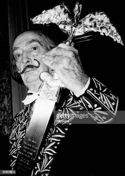 Spanish surreal painter Salvador Dali