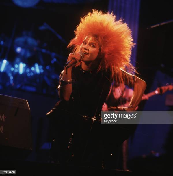 British actress and pop singer Toyah Wilcox lead singer of the punk band Toyah