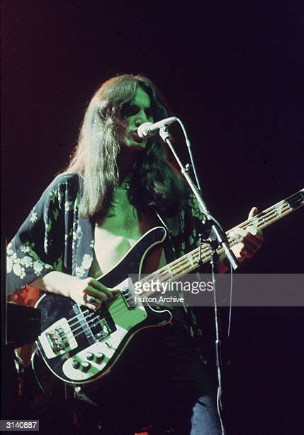 Geddy Lee singer and bassist of Canadian rock band Rush