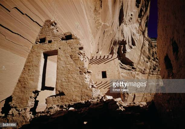 Indian ruins in the Canyon de Chelly, Arizona.