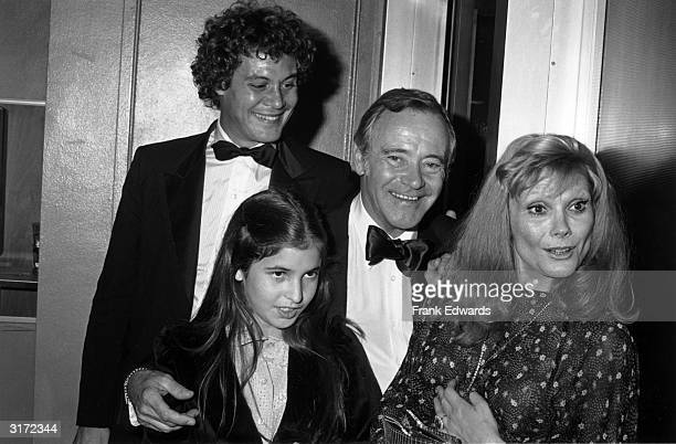 Married American actors Jack Lemmon and Felicia Farr at the 24th annual Thalian Ball with their daughter Corky and Lemmon's son Chris Hollywood...