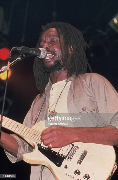 Reggae singer Peter Tosh exmember of Bob Marley and The Wailers and writer of the hit 'Get Up Stand Up'