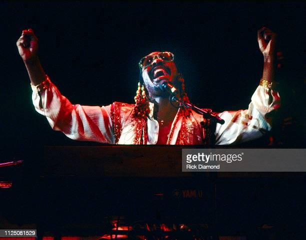 Stevie Wonder performs at The OMNI Coliseum in Atlanta, Ga. Circa 1980's