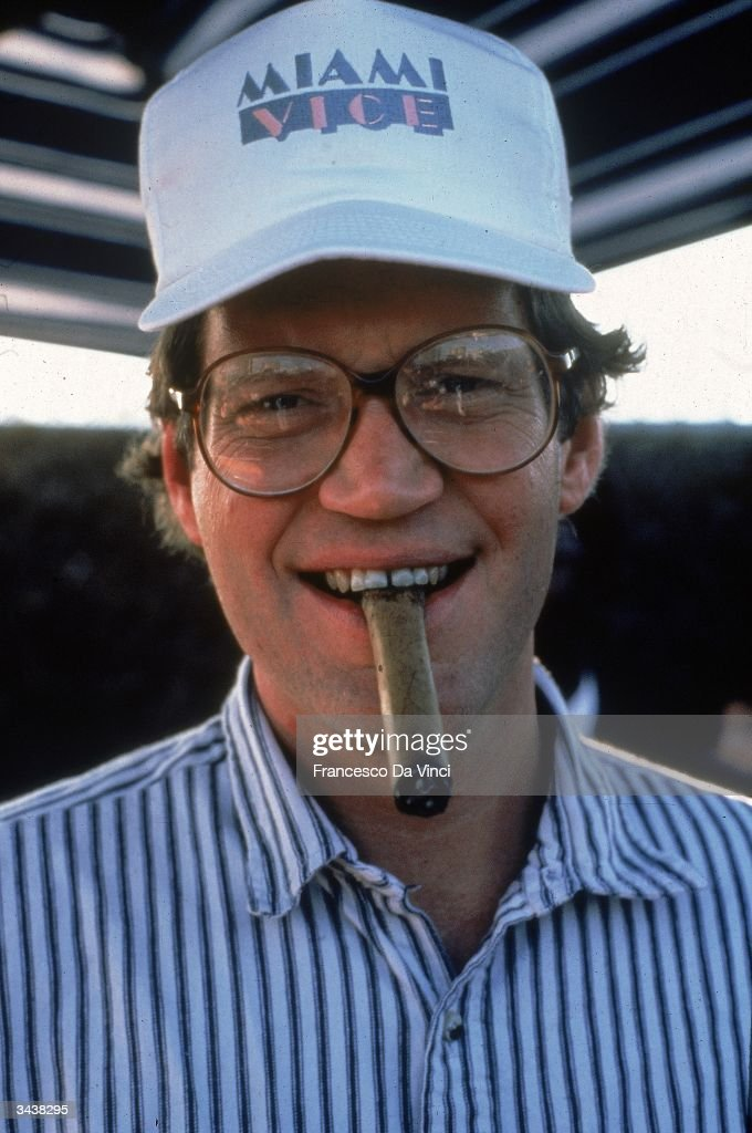 Letterman with Cigar : News Photo