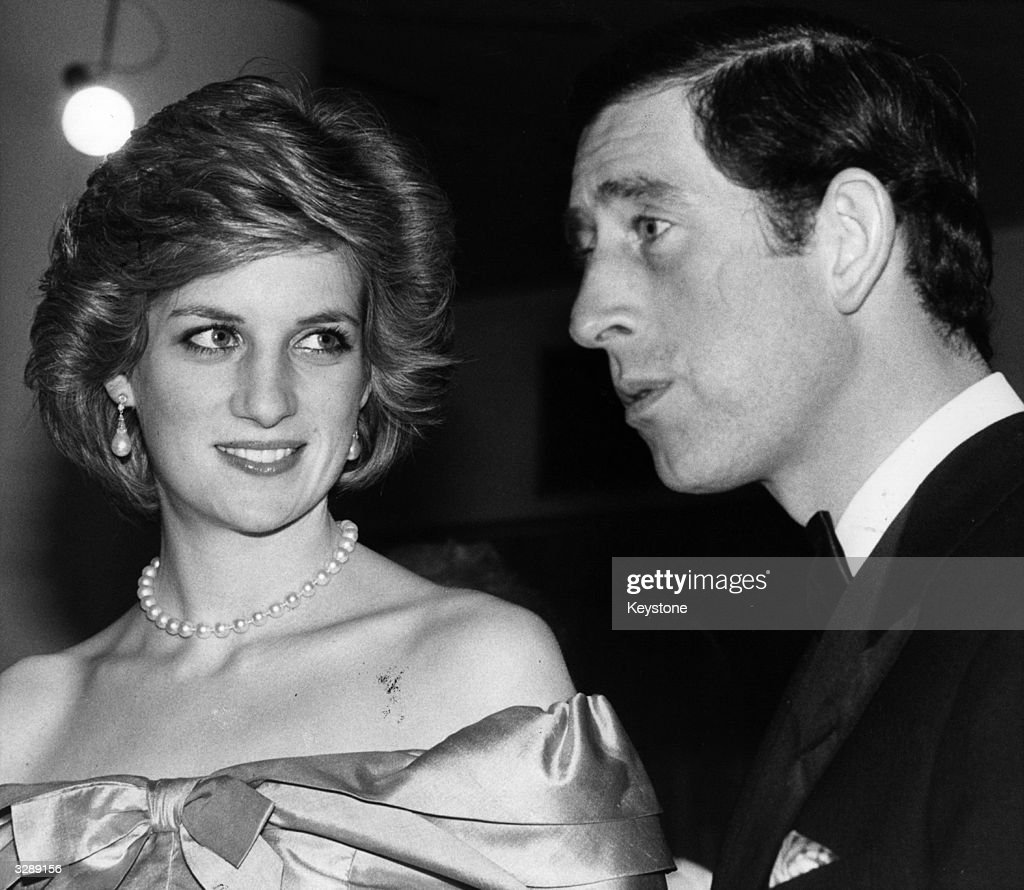 Charles Prince Of Wales and Diana, Princess of Wales (1961 - 1997) arriving concert held by the Royal Philharmonic Orchestra.