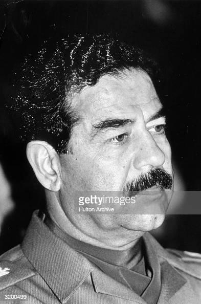 iraqi president saddam hussein  news photo