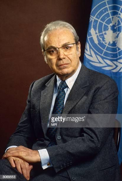 Peruvian diplomat Perez de Cuellar, the fifth General Secretary of the United Nations.