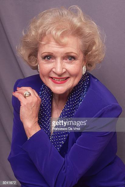 American actor Betty White during the time she was playing Rose Nylund in the televisoin series 'The Golden Girls'