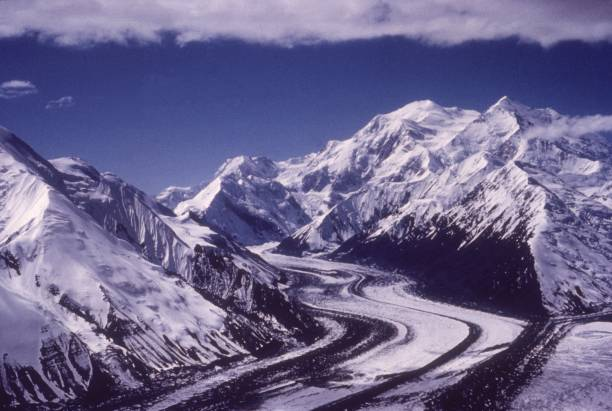 Scenic view of Muldrow Glacier in Mount McKinley National...