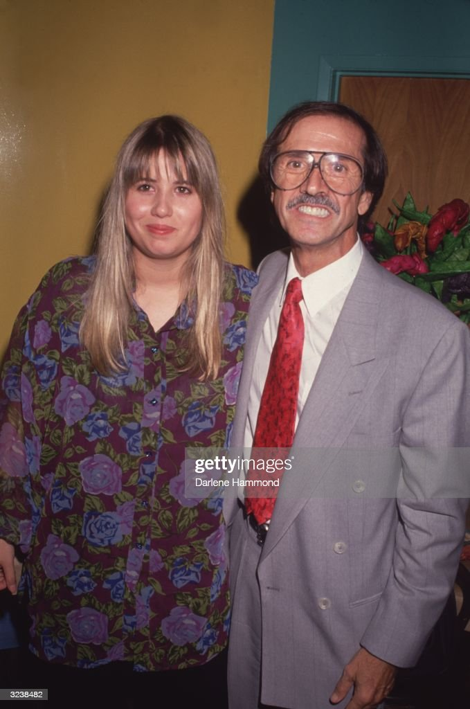Republican congressman Sonny Bono (1935 - 1998) poses with his daughter, lesbian and gay rights activist, Chastity Bono.