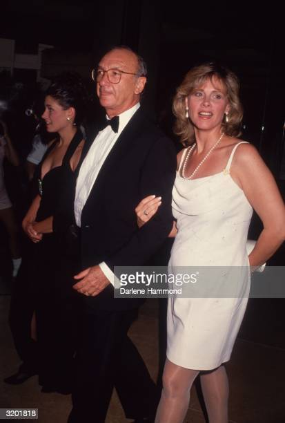 American playwright Neil Simon and wife Diane Lander in formal attire