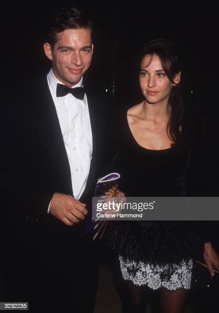 American singer and actor Harry Connick Jr and his wife American model Jill Goodacre attending a formal event
