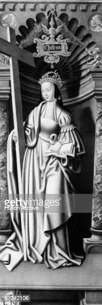 Circa 300 AD, St Helena , Roman Empress, wife of the emperor Constantius Chlorus. Original Artwork: By Hans Melem.
