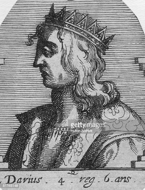 Circa 336 BC, Darius III, , King of Persia from 336 BC, surnamed Codomannus.