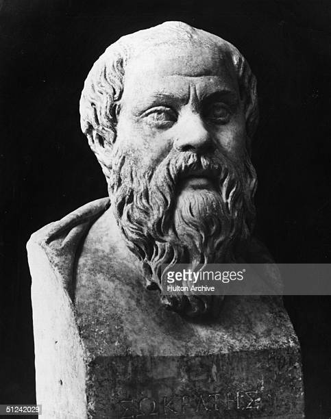 Circa 400 BC A bust of the Greek philosopher Socrates