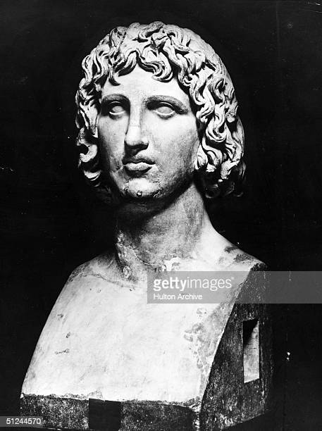 Circa 45 BC Roman writer and poet Publius Vergilius Maro better known as Virgil A bust from the Capitol Rome