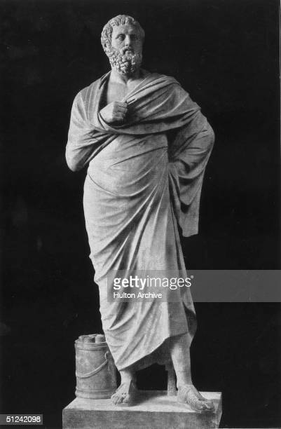 Circa 450 BC, A statue of Greek dramatist Sophocles .